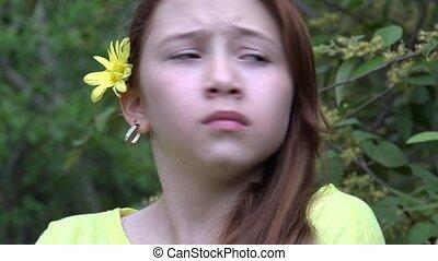 Nervous Teenage Girl