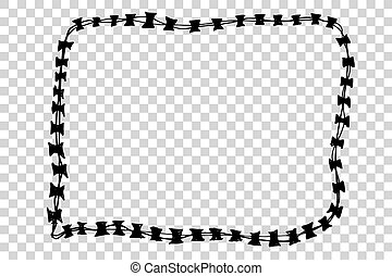 Barbed Wire - Vector Barbed Wire
