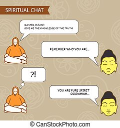vector chat template - Disciple and spiritual master - chat...