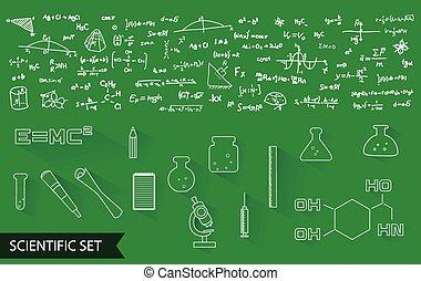 公式, 矢量, 圖案, 科學, 圖象