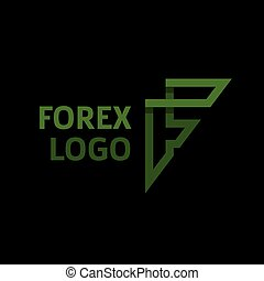 Abstract logo for forex f letter,companies trending flat style