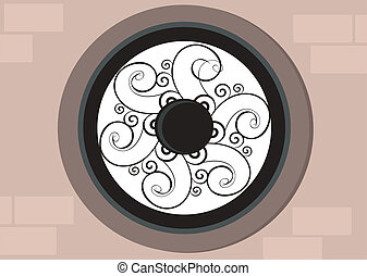 decorated air hole	 - Illustration of decorated air hole