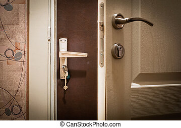 Double Door at Home - A double door for security and sound...