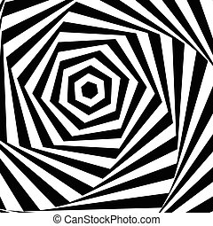 Background optical illusion Vector illustration