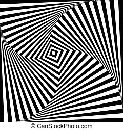 Background optical illusion. Vector illustration