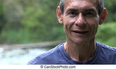 Older Man Outdoors in Nature