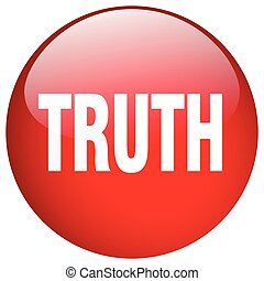 truth red round gel isolated push button