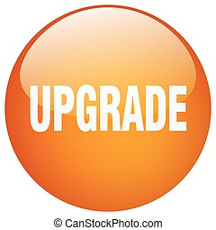 upgrade orange round gel isolated push button