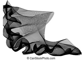 Abstract vector background design with black and white...