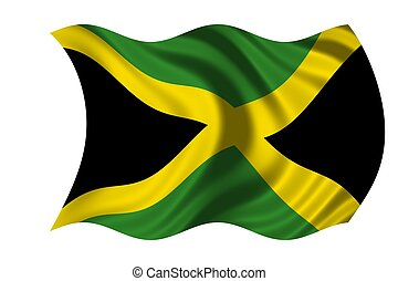 Waving flag Jamaica