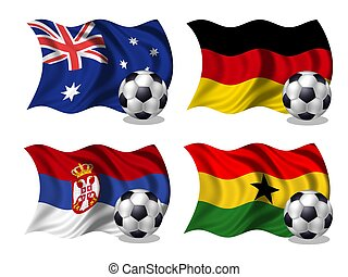 soccer team flags group D