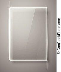 Glass framework Vector illustration.