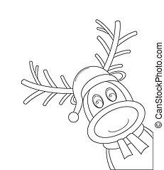 reindeer scarf santa claus hat