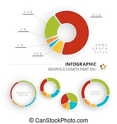Vector flat design infographic elements - pie charts - 16...