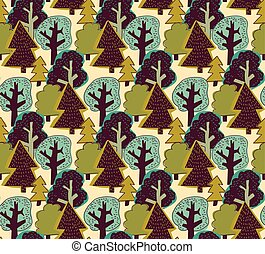 Forest color seamless pattern.