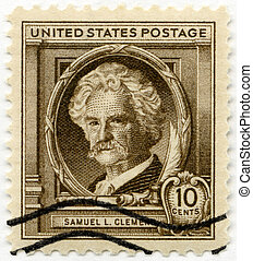 USA - 1940: shows Samuel Langhorne Clemens Mark Twain...