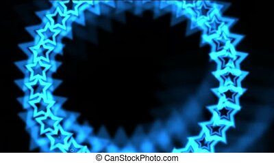blue stars made up of auraseamless loop