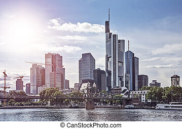 Skyline Frankfurt am Main - Skyline of Frankfurt am Main in...