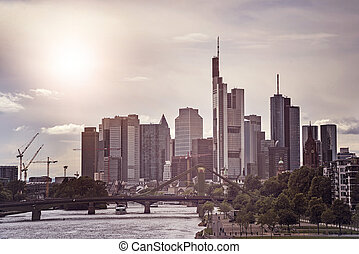 Frankfurt am Main Skyline - Skyline of Frankfurt am Main,...