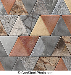Close-up of rhombus pavement - 3d rendering of a close-up of...