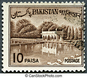 PAKISTAN - 1961: shows Shalimar Gardens, Lahore - PAKISTAN -...