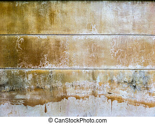 Old and dirt wall - Wall color when recieve water from an...