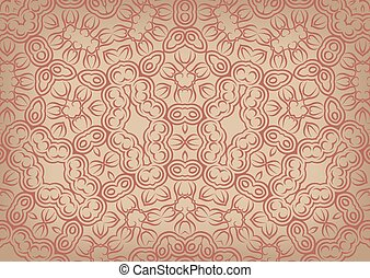 Vintage background in ethnic style