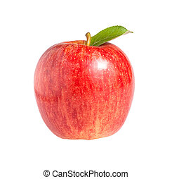 Royal Gala Apple - Royal Gala apple isolated on a white...