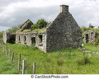 old left cottage in the west of ireland