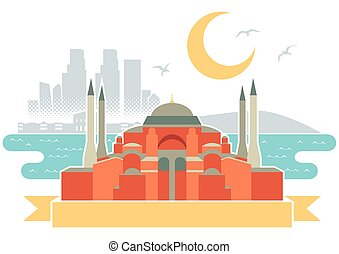 Istanbul - Simple illustration of Istanbul