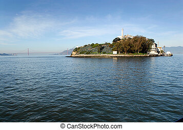 Alcatraz and the Golden Gate Bridge