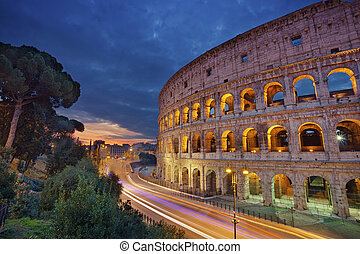 Colosseum. - Image of Colosseum, Rome during sunrise.
