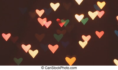 Heart bokeh background Valentines day background