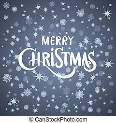 Vector merry Christmas greeting card blue background
