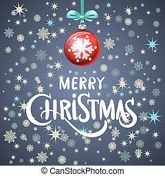 Abstract Christmas background. red ball. Vector eps 10.