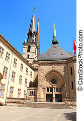 Notre-Dame Cathedral, Luxembourg - Notre-Dame Cathedral in...