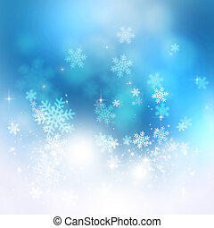 Bright Snow Blue Background