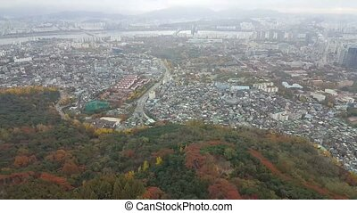 Downtown cityscape of Seoul, South