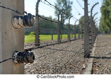 Auschwitz - Wire with power in Auschwitz