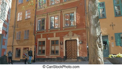 Buildings and Trees in Stockholm, Sweden - Scenic shot of...