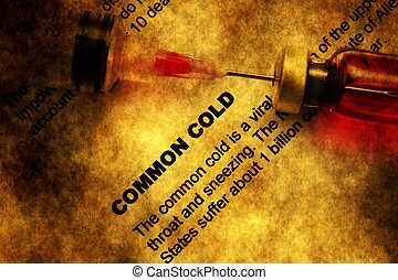 Common cold grunge concept