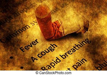 CIgarette danger grunge concept