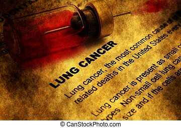 Lung cancer grunge concept