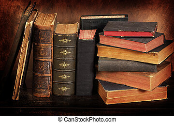 old books - Pile of the old books