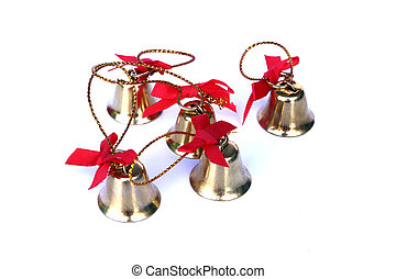 Bell for christmas day on isolated background