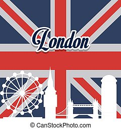 London landmarks design - London concept with landmarks...