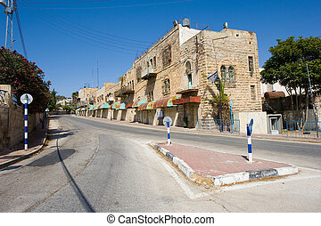 Street in Hebron - HEBRON, ISRAEL - 10 OCT, 2014: Deserted...