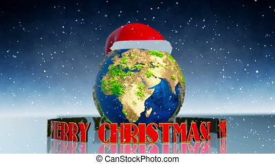 Merry Christmas Earth animation