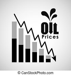 oil prices design - oil prices design, vector illustration...