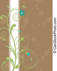 floral design - vector illustration of a floral background